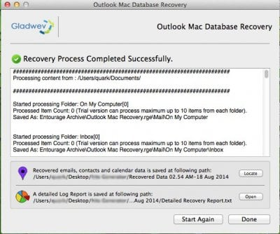 Mac Outlook Data Recovery