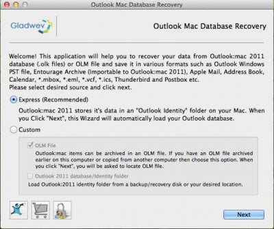 Outlook Mac Database Recovery for Mac