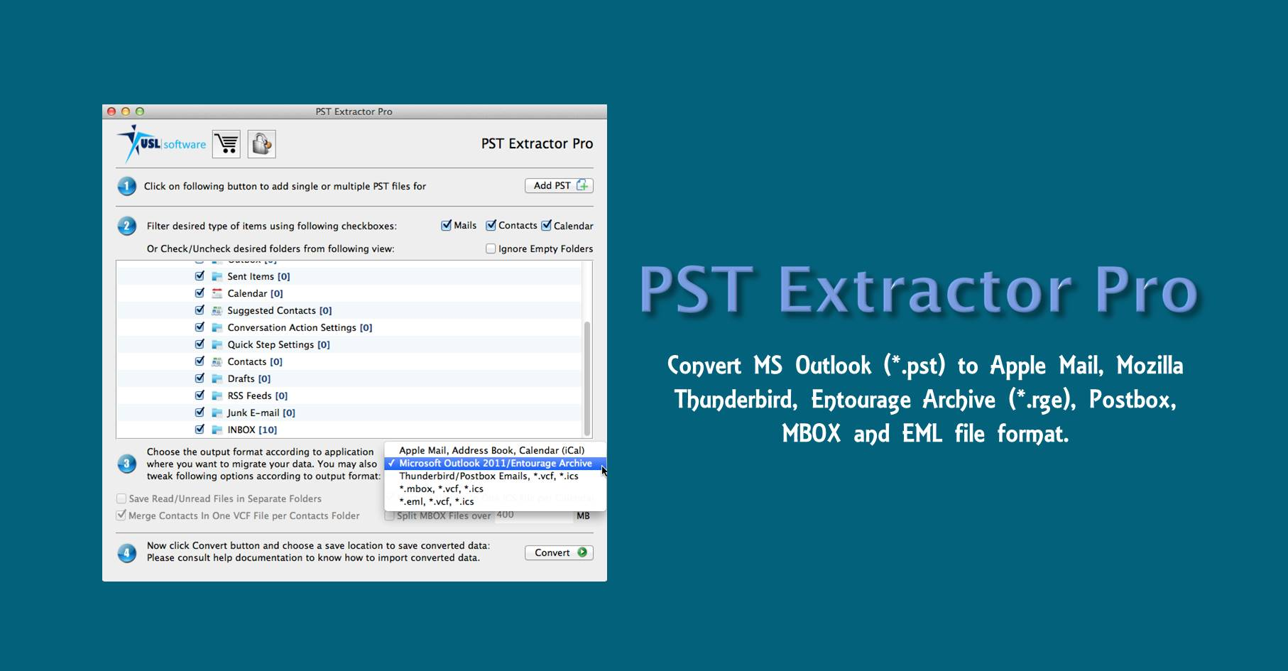 PST to Apple Mail Converter for Mac